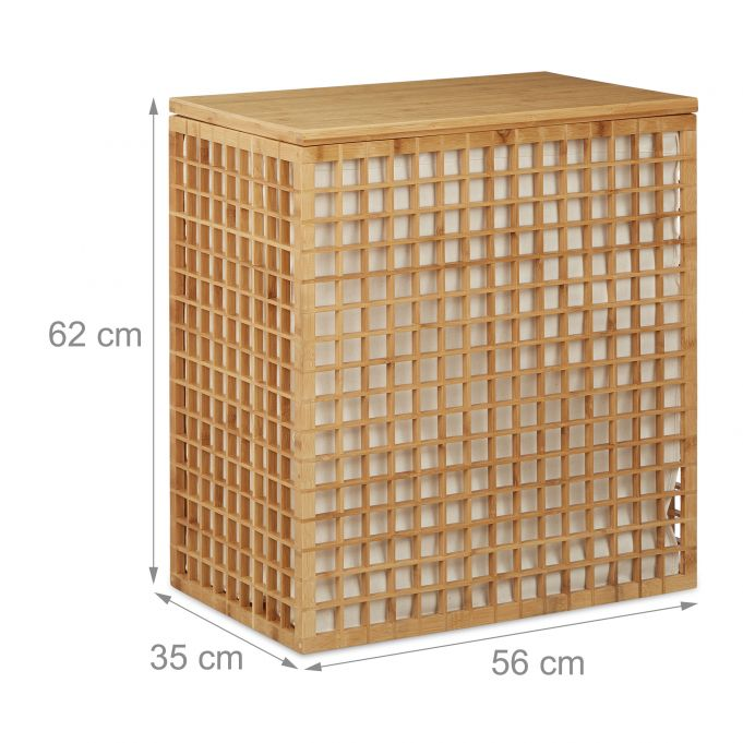 2 Compartment Bamboo Laundry Hamper4