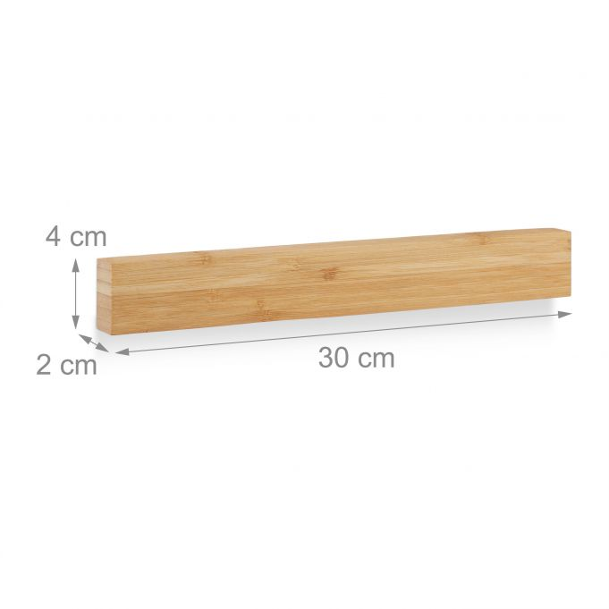 Barra magnetica in bambù da 30 cm4