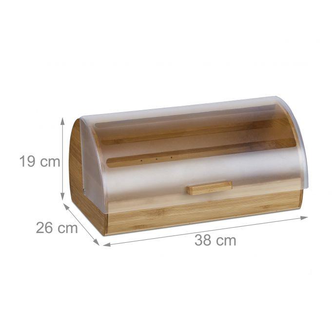 Large Rolling Bamboo Bread Bin3