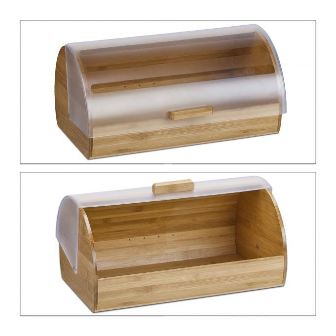 Large Rolling Bamboo Bread Bin4