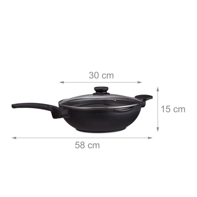 Wok Pan with Lid 30 cm4