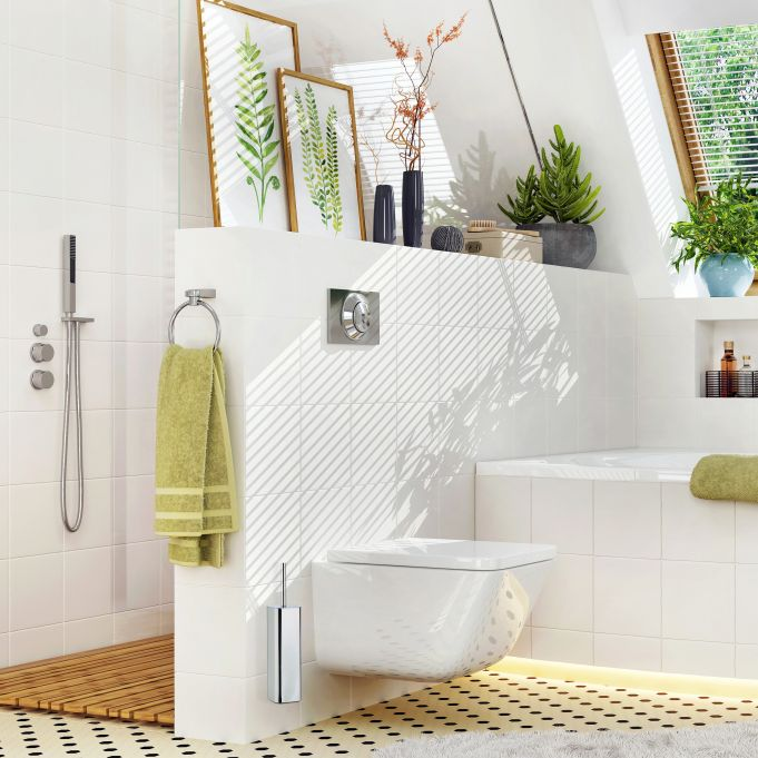 Escobilla de baño con soporte pared2
