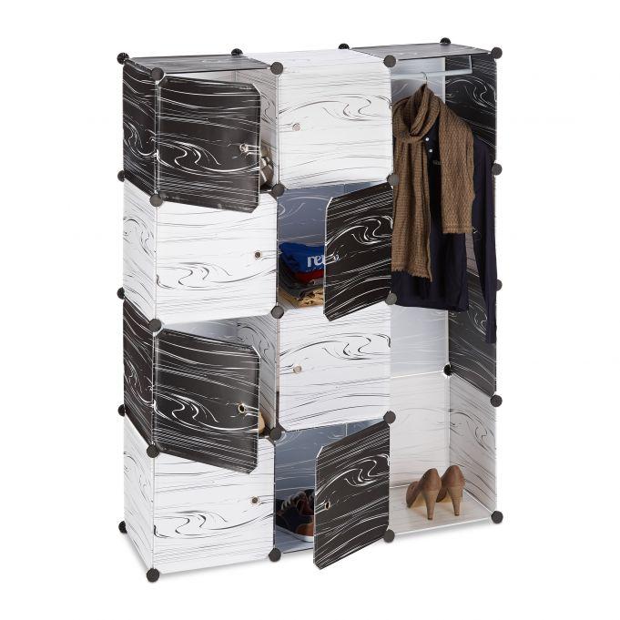 Armario modular blanco y negro3