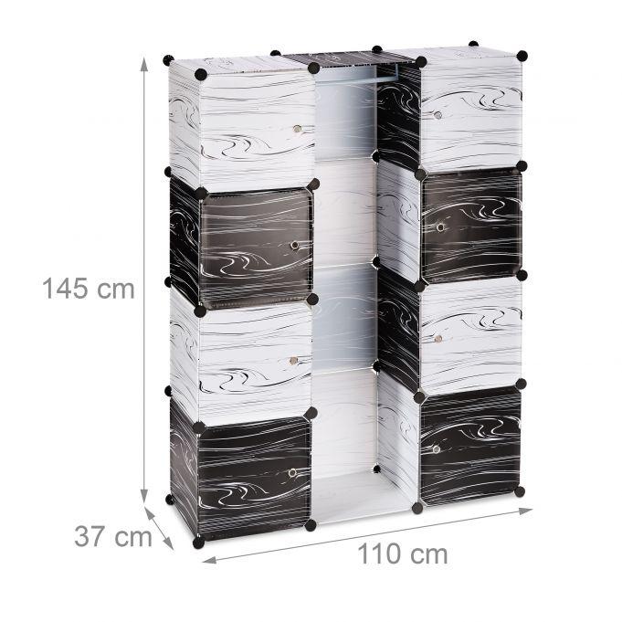 Armario modular blanco y negro4