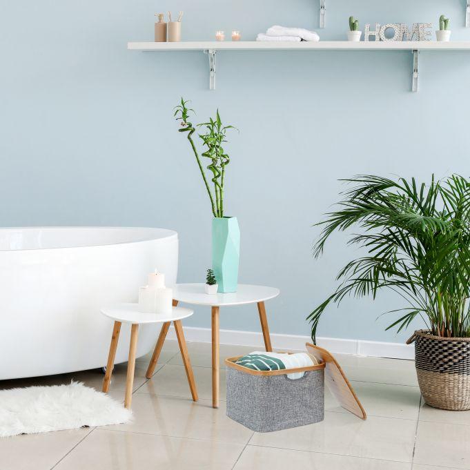 Grey Fabric Storage Basket2