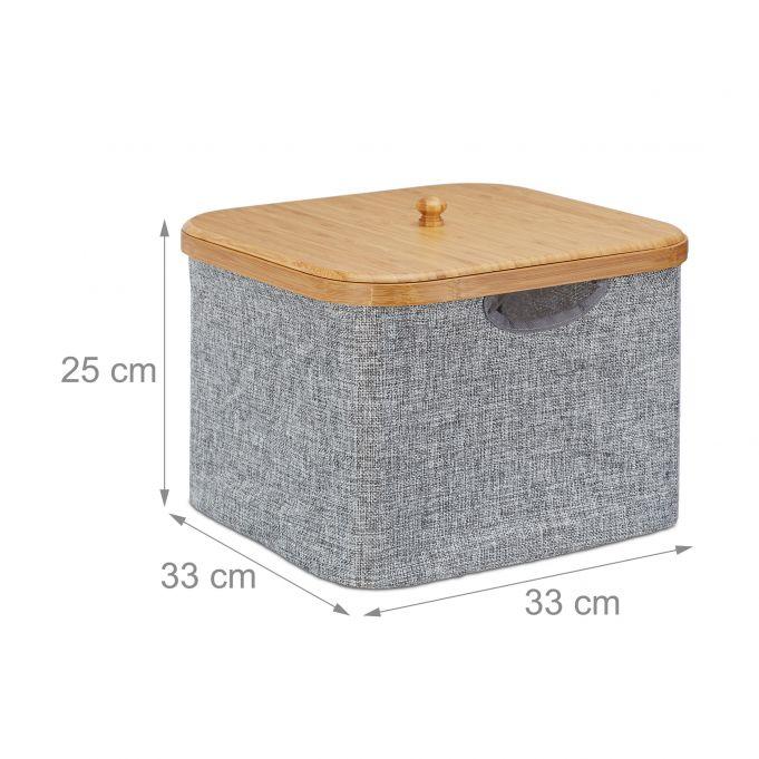Grey Fabric Storage Basket4