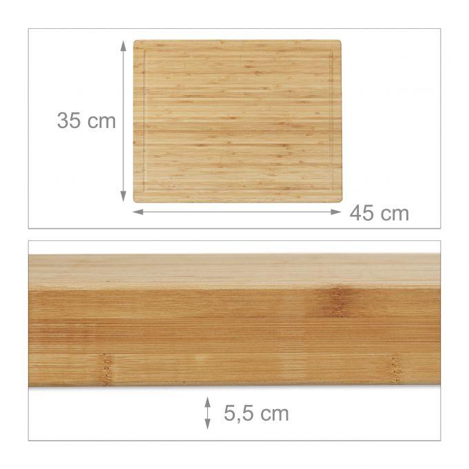 Tagliere grande da cucina in bambù3