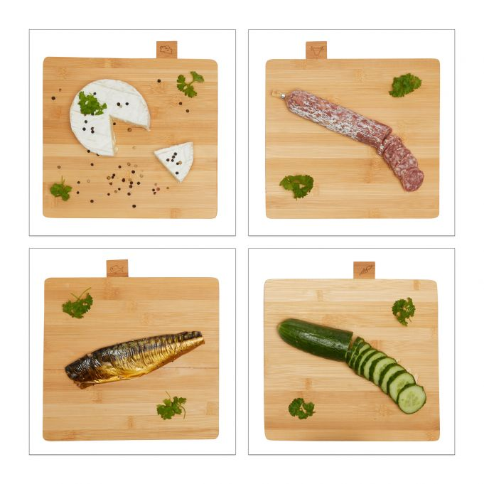 Cutting Board Set of 4 with Stand3