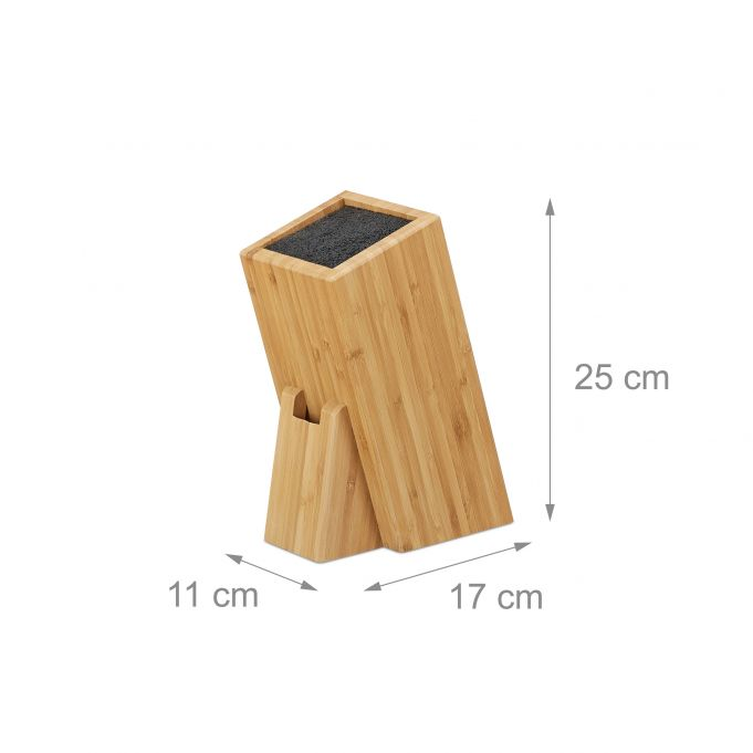 Bamboo Knife Block with Bristles3