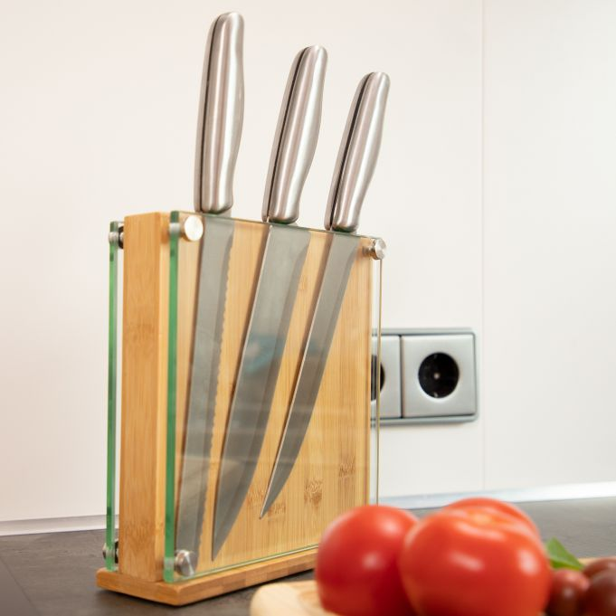 Bamboo and Glass Knife Block3
