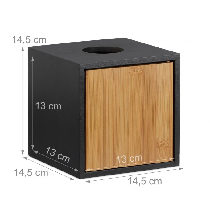 Caja de pañuelos negra4