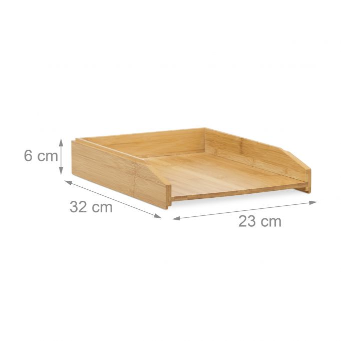 Stackable Bamboo Letter Tray4