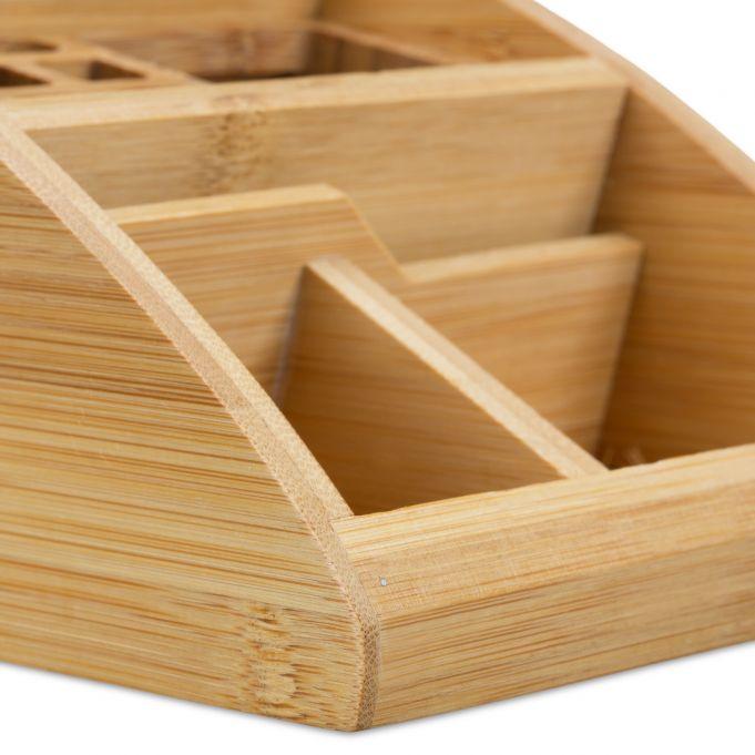 Organizer da scrivania in bambù4