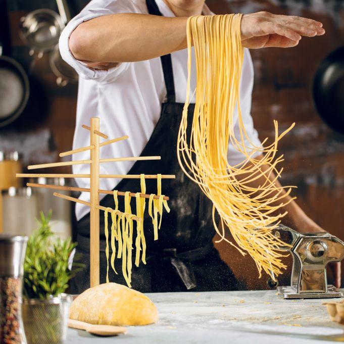 Bamboo Pasta Drying Rack2