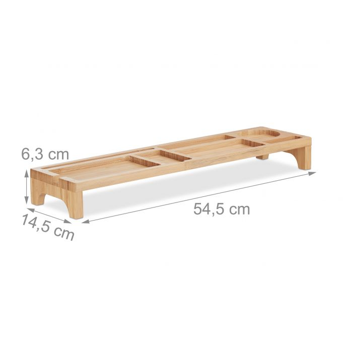 Portaoggetti scrivania bambù 7 scomparti2