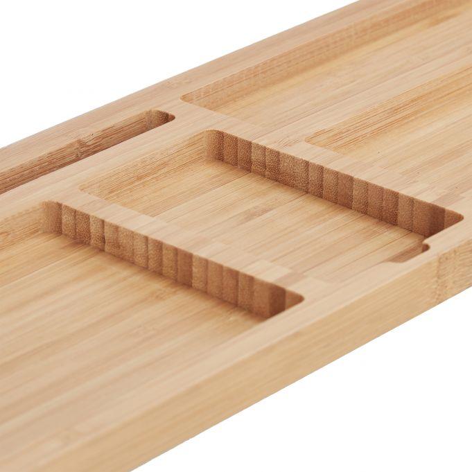 Organizador de escritorio de bambú4