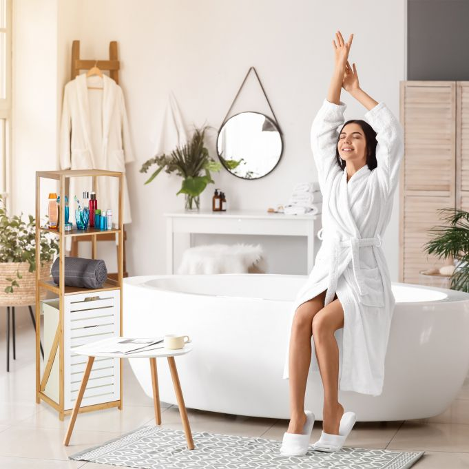 Étagère salle de bain panier à linge2