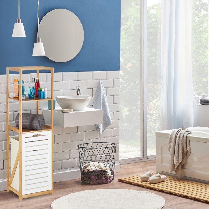 Étagère salle de bain panier à linge3