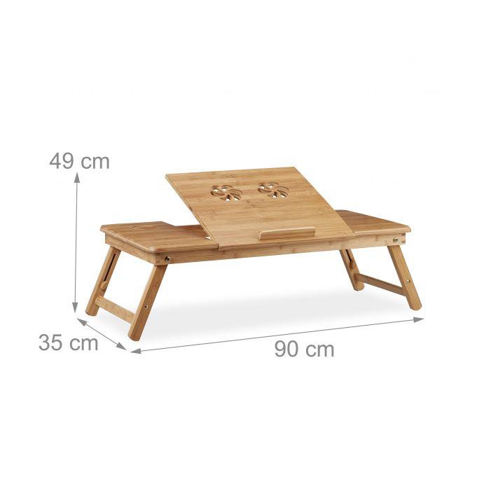 Table d'Ordinateur Portable XL Bambou4
