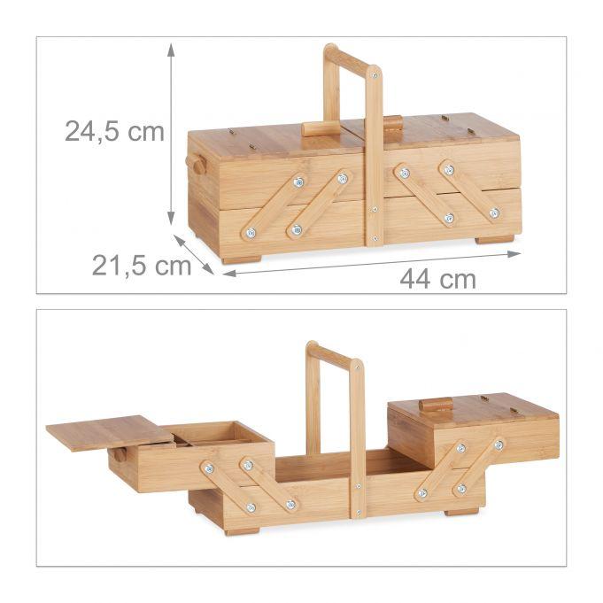 Scatola per cucito in bambù formato XL4