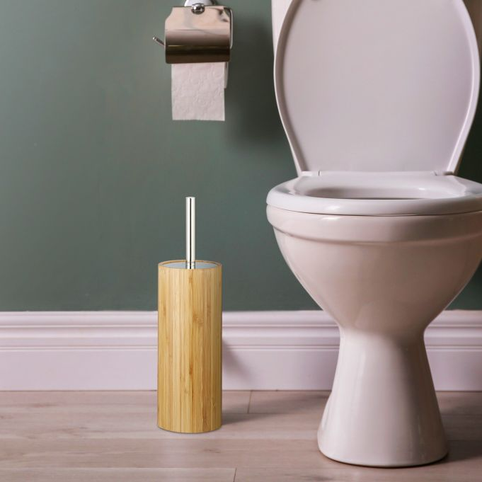 Portascopino da bagno in bambù2