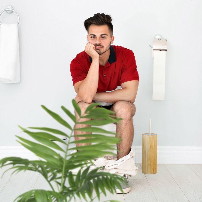 Bamboo WC Brush Holder3
