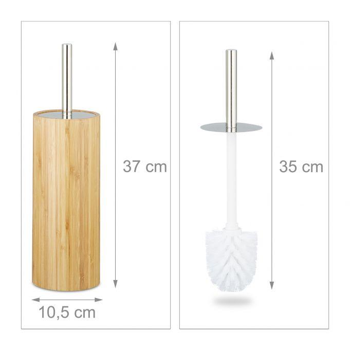 Bamboo WC Brush Holder4