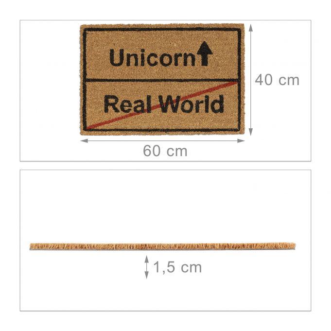 Zerbino in cocco Unicorn Real World4