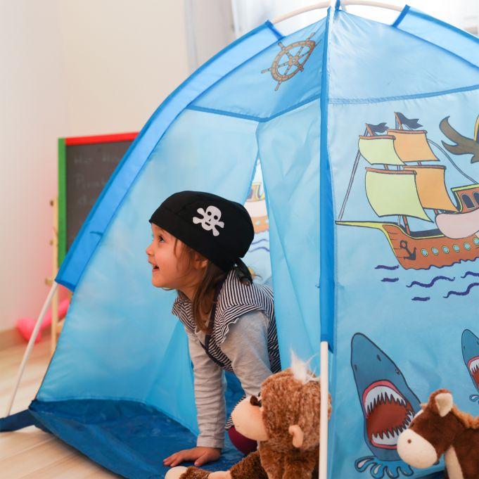 Tente pirate pour enfants bleu2