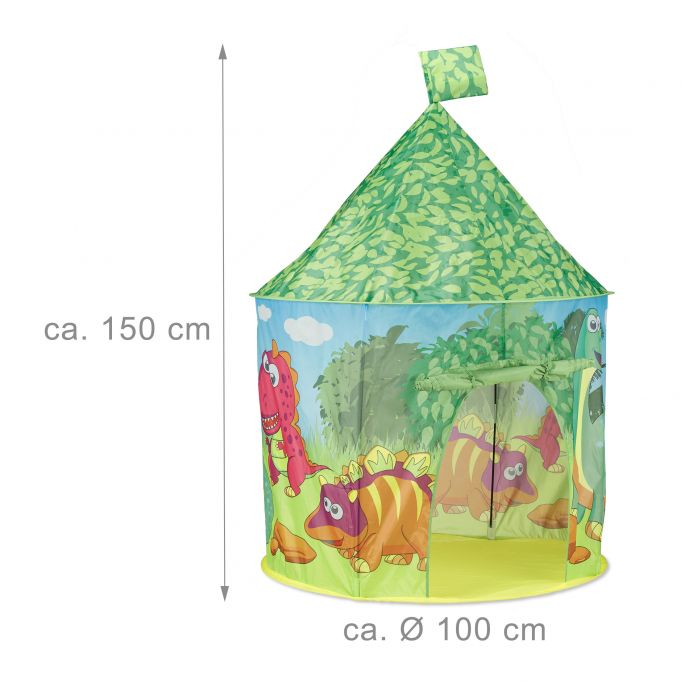 Green Dinosaur Play Tent3