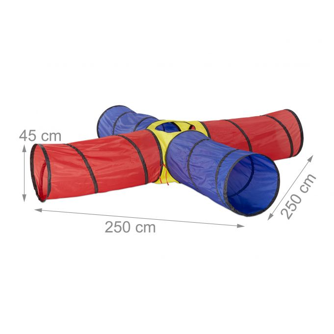 Tente de jeu Tunnel set de 4 tubes2