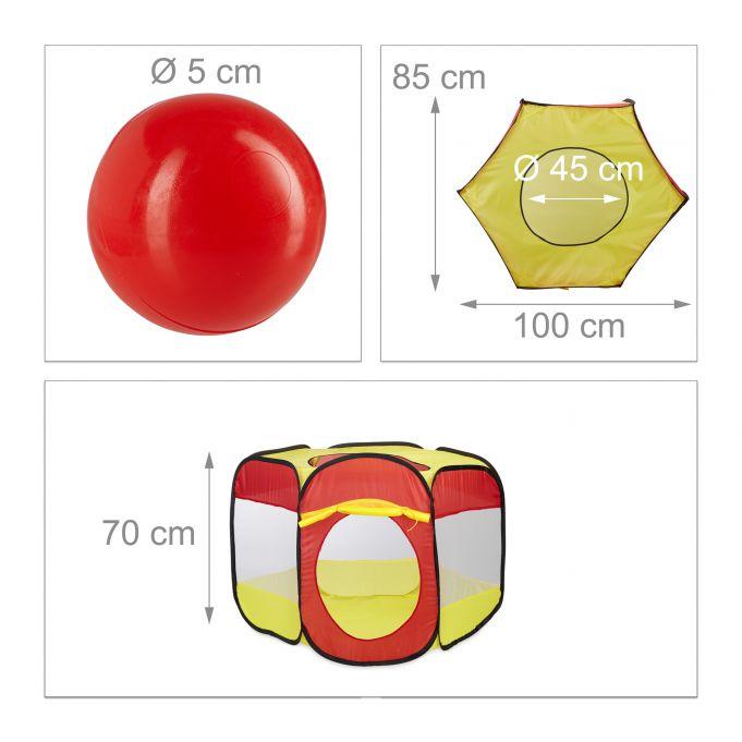 Piscina con 100 palline per bambini2