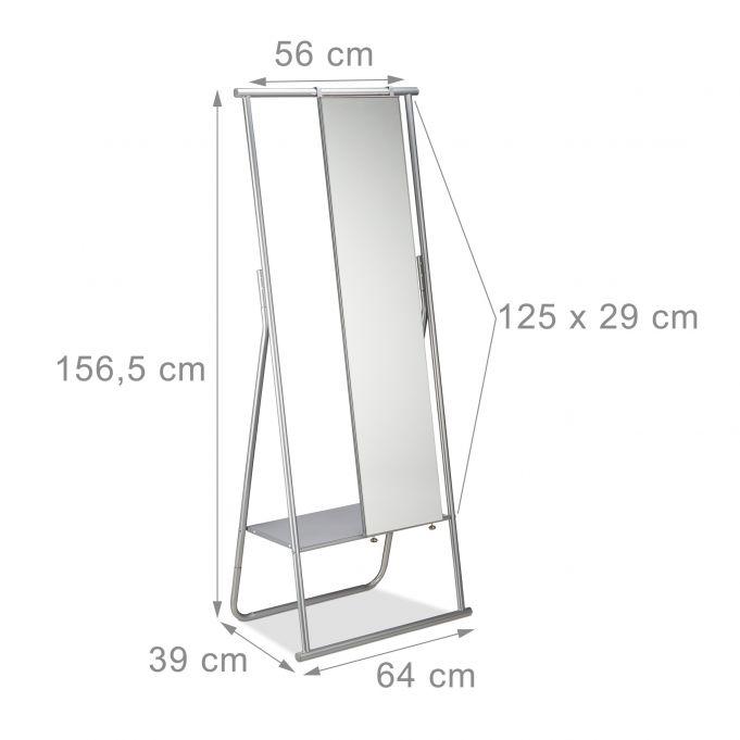 Appendiabiti metallo con specchio intero4