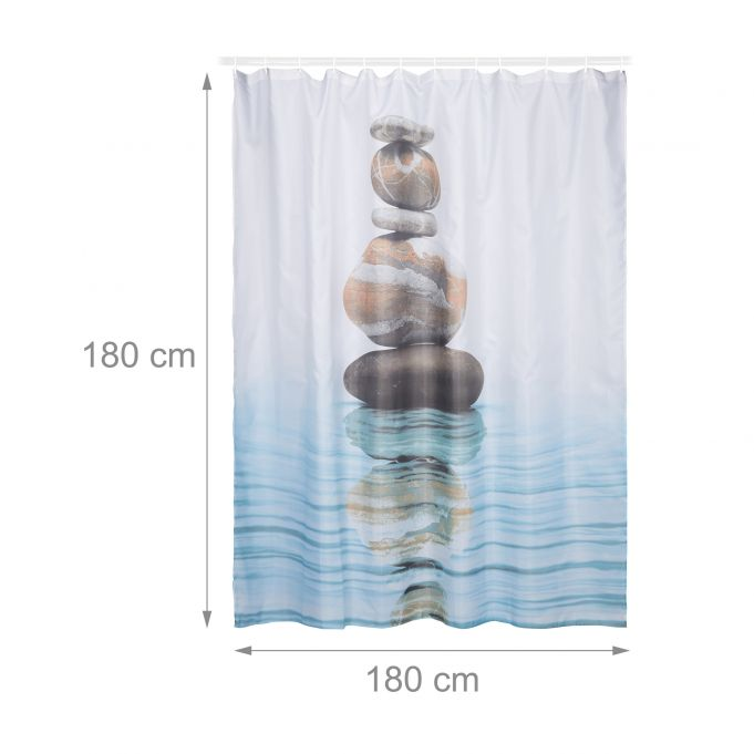 Stone and Water Shower Curtain 180x1804