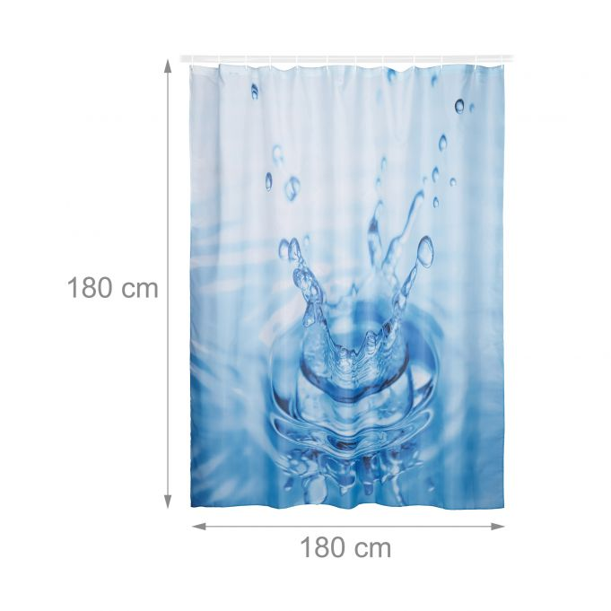 Tenda doccia con goccia d'acqua 180x1804