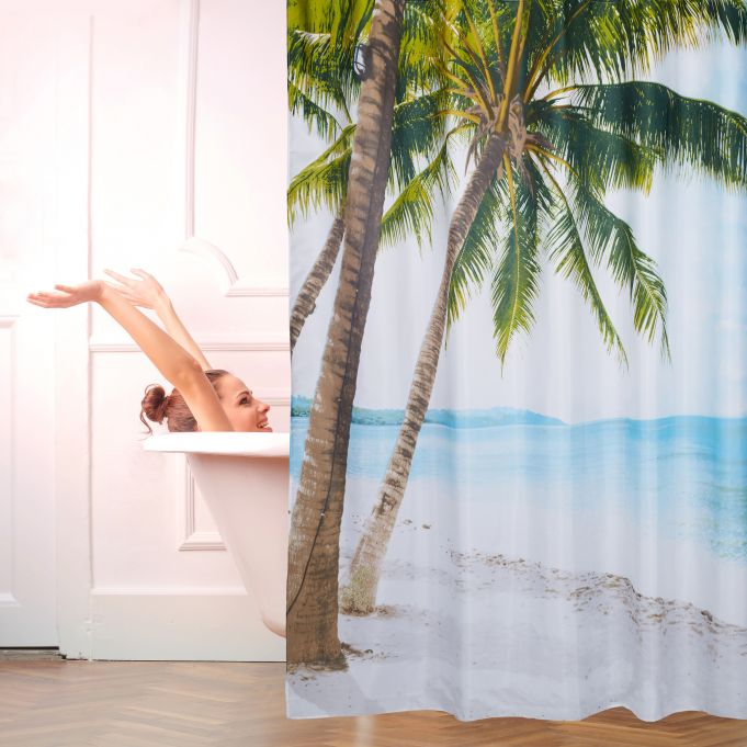 Beach Shower Curtain 180 x 180 cm2