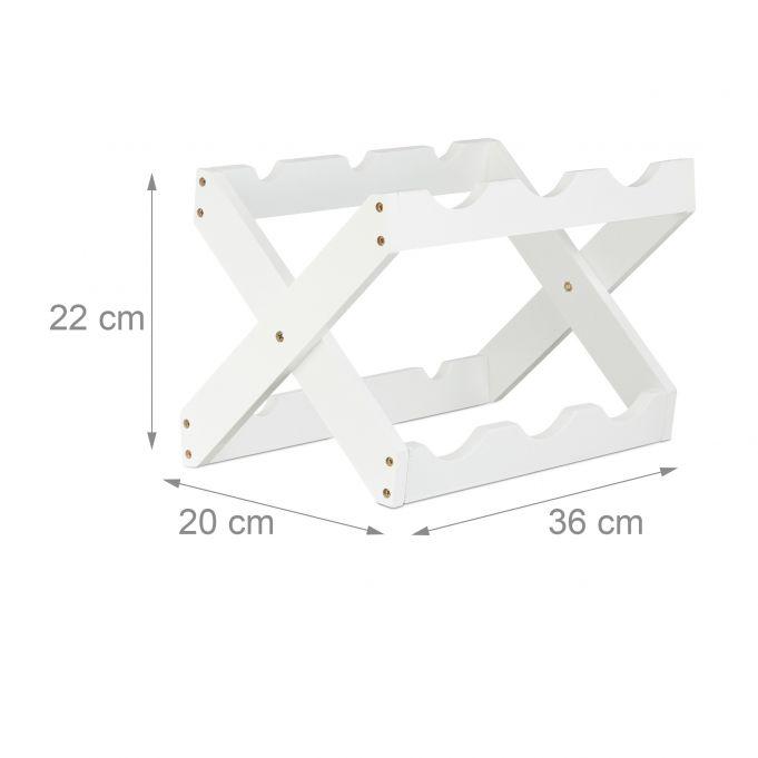 X-Shape Bamboo Wine Rack in White4