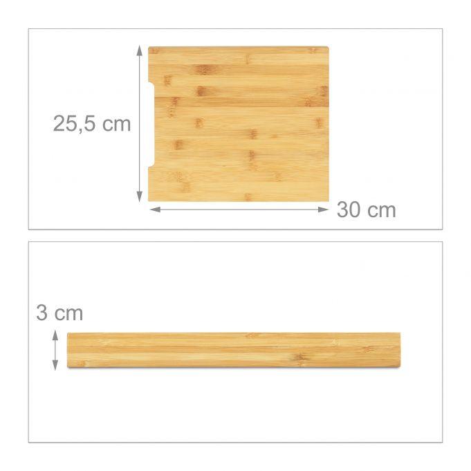 Planche à découper bambou bac collecteur4