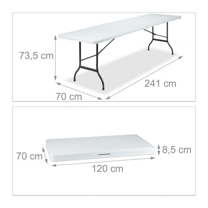 Folding Garden Table 240 x 70 cm4