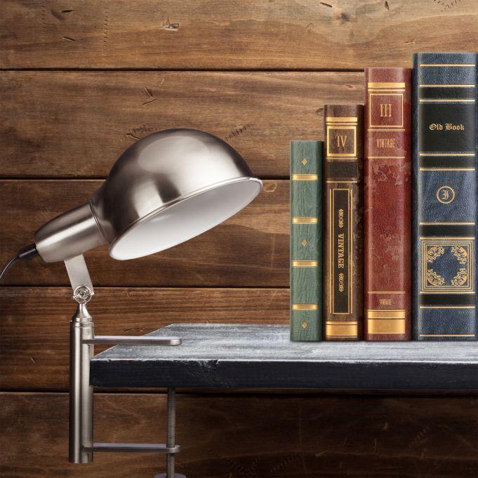 Lampada con morsetto design industrial2