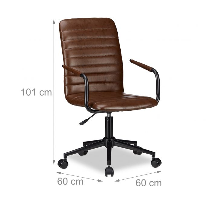 Swivel Office Chair Brown3