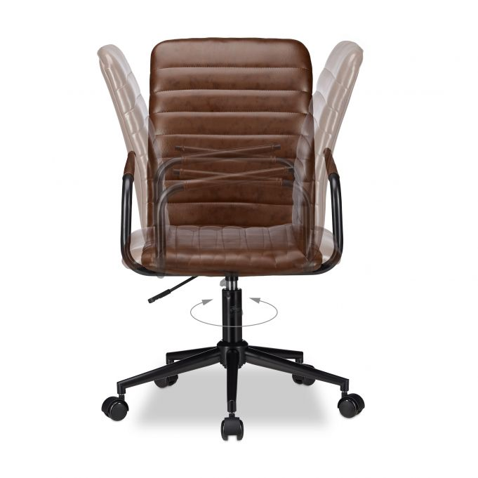 Swivel Office Chair Brown4