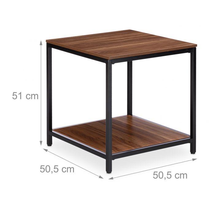 Table d'appoint Bois Cadre Métal Noir4