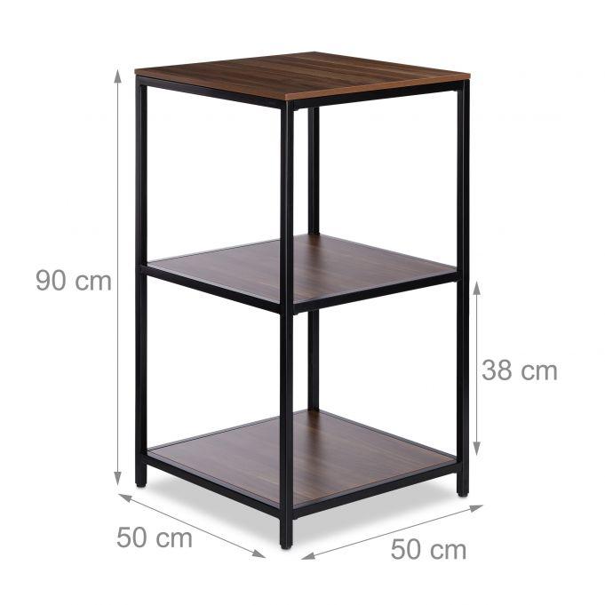 Square 3-Tier Standing Shelf4