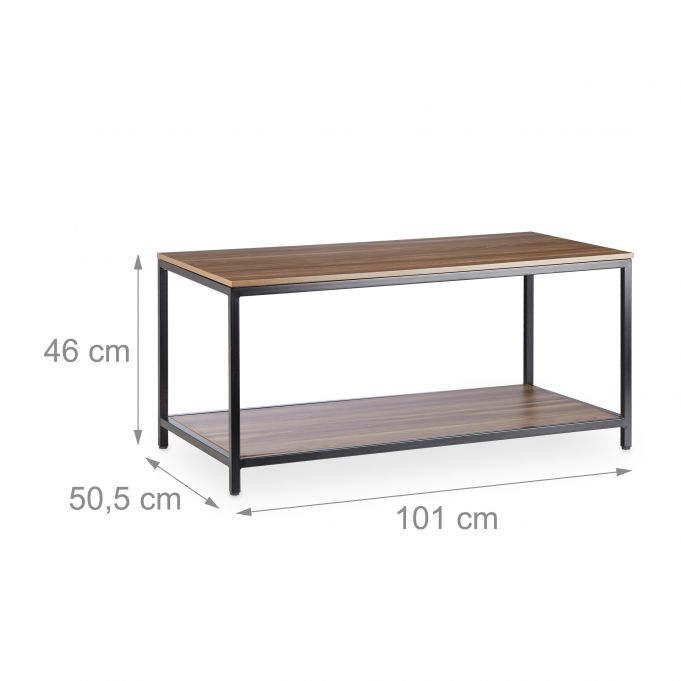 Melamine Coffee Table with Metal Frame4