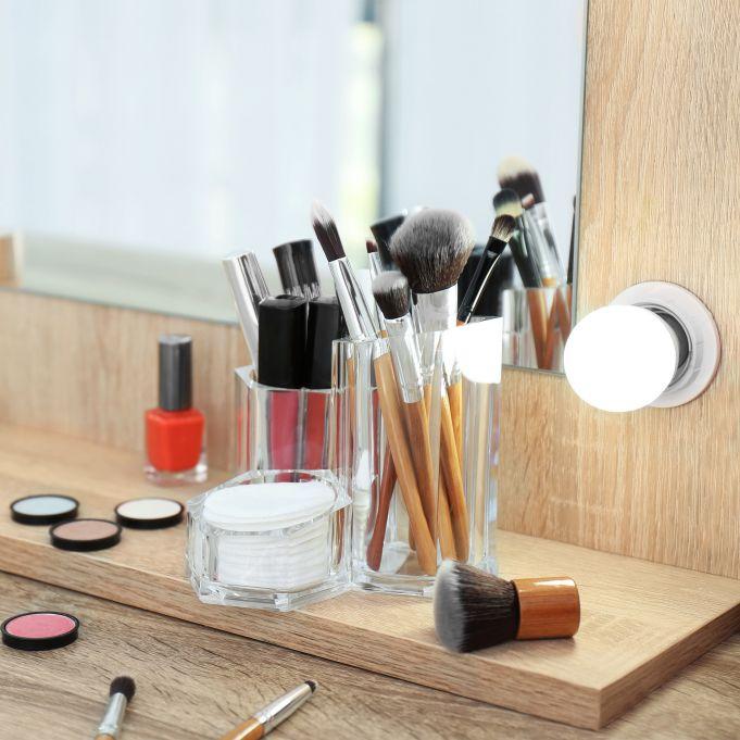 Porte-pinceaux pour maquillage 3 pièces2