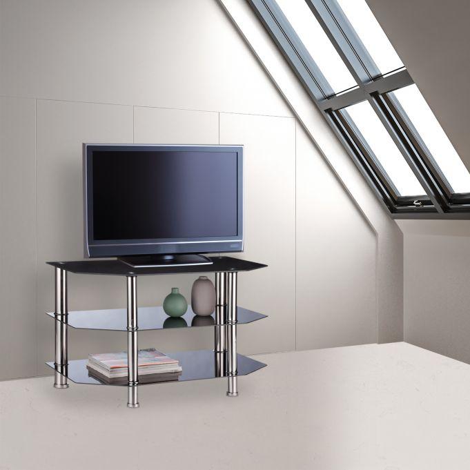 Black Glass TV Stand2