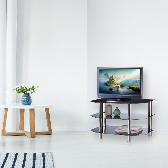 Black Glass TV Stand3