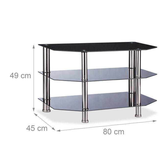 Black Glass TV Stand4