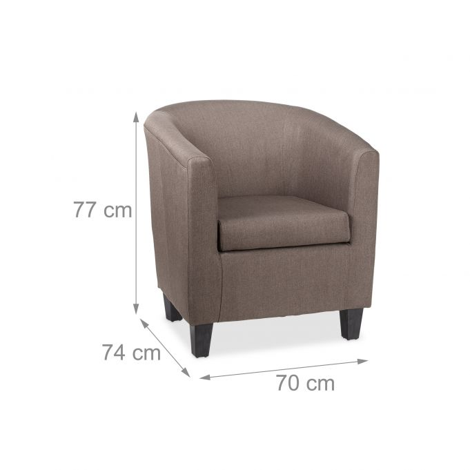 Fauteuil Cocktail Retro marron4